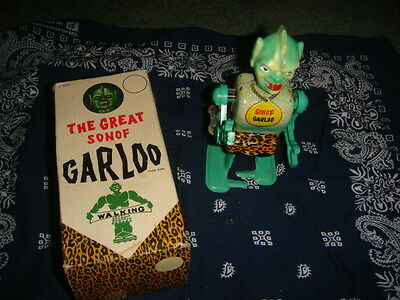 THE GREAT SON OF GARLOO Tin Wind-Up Toy by MARX with Original Box Super Rare Toy