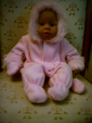 """Pink Snowsuits To Fit 14"""" My First Baby Annabell  Or Similar"""