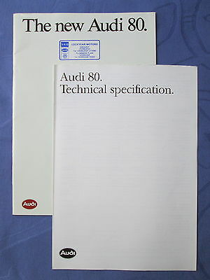 Audi The new Audi 80 brochure with the Technical specification leaflet 1987