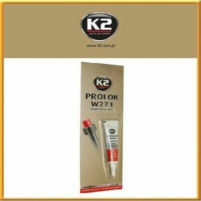 K2 PROLOK Thread Locker HIGH STRENGTH Temperature Anaerobic 6ml Lock Screw Glue