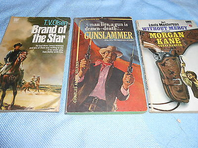 Collection of 3 Vintage WESTERN Paperbacks #3