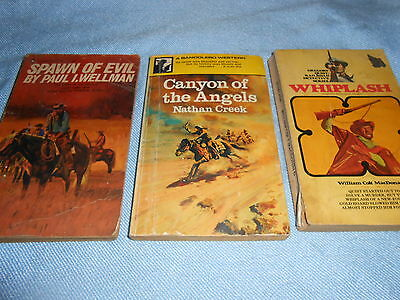 Collection of 3 Vintage WESTERN Paperbacks