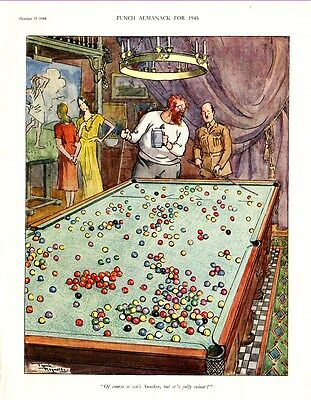 A CRAZY GAME OF SNOOKER !    (1944 Advertisement)