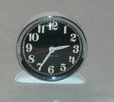 Traditional Vintage Westclox Wind Up Metal Alarm Clock In Good Working Condition
