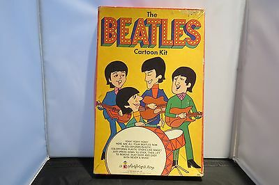 1966 Beatles Colorforms Carton Kit  W/ Bonus Pieces Vintage Original