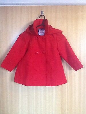 Baby/ Toddler Girls Age 2-3 Coat Red F&F