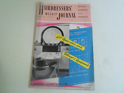 Vintage Retro ~ Hairdressers Journal 16th Sept 1948 + Illustrated+Advertising