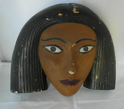 Art Deco Wall Mask Signed