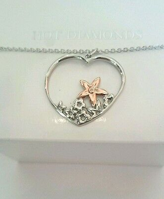 Hot Diamonds Sterling Silver & Rose Gold Shades of Spring Heart Pendant £99.95