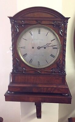 Circa 1830 London Double Fussee Movement  Pull Repeat Clock On Original  Bracket