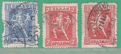 Greece 1911 3 Stamps Used