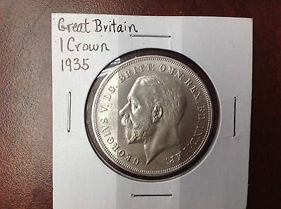 1935 Great Britain Silver Crown 11/26 B-3