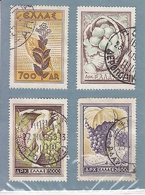 Greece 1953 4 Stamps Used