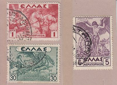 Greece 1935 3 Stamps Used