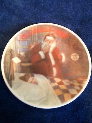 Deer Santy Claus 1986 Norman Rockwell Collectible Plate