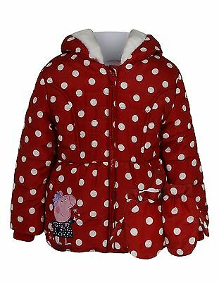 Peppa Pig:polka Dot Coat With Mittens,2/3Yrs,new With Tags