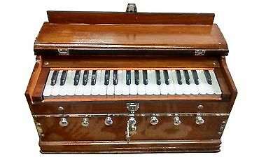 New Harmonium~Male/male~Double Reeds~Double Bellow 3 1/4 Octave 7 Stoper