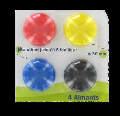 Aimants ronds 30 mm (lot de 4)