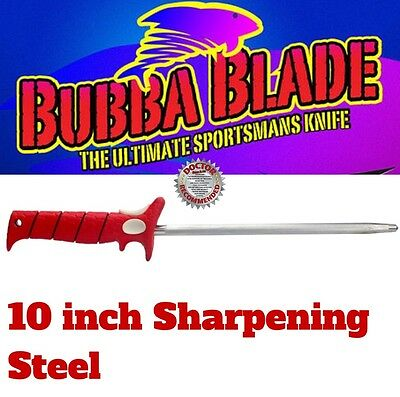 BUBBA BLADE 10 inch SHARPENING STEEL FOR BUBBA BLADE KNIFES