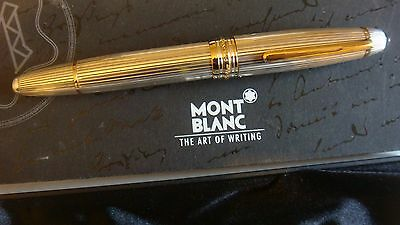 """stylo plume 146 Solitaire argent massif MONTBLANC plume""""F""""or 18K.CB102.."""