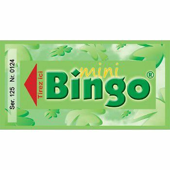 Mini bingo ( série de 500 tickets )
