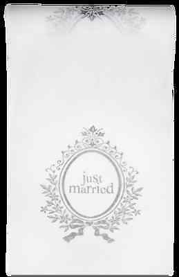 Chemin de table 'Just Married' 0.30 x 5 m