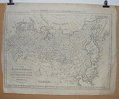 Antique Original Map of The RUSSIAN EMPIRE in Europe & Asia by T. Bowen c1800