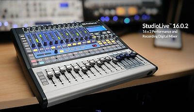 New PreSonus StudioLive 16.0.2 16-Channel Recording Digital Mixer Console Studio