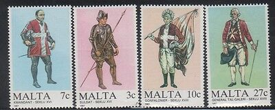 Malta 696-9 Military Uniforms Mint NH