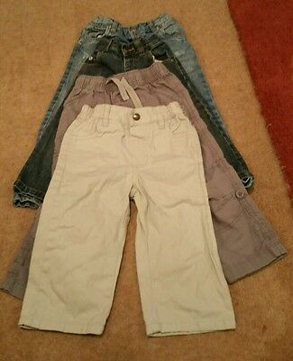 Next, Bambino, Matalan and George Trousers Bundle 1-3 graded over 4 pairs.