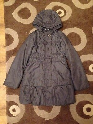 Marks And Spencer Girls Grey Coat Age 9-10
