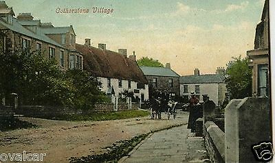 COTHERSTONE VILLAGE. TEESDALE. .  Co  DURHAM. OLD POSTCARD.