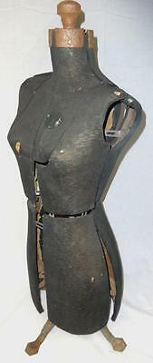 Antique Early 20th Century Female Mannequin Bodice w/Cast Iron Base!