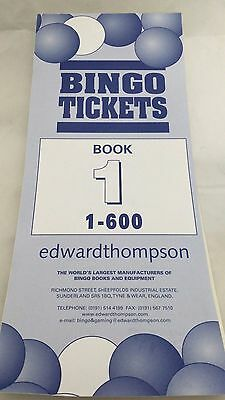 Bingo Tickets Book 600 Games  Tickets 6 to View Brown colour