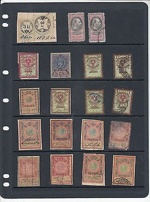 Austrian Early Revenues, 20 different stamps