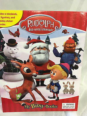 Rudolph The Red Nose Reindeer Santa Claus 12 Figures & My Busy Book & Map