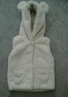 Girls soft Gillet from Next, 2-3 years, Cream, Greay buy • EUR 10,96