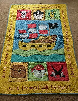 Gorgeous Pirate Themed Quilt/Throw/Bedspread - Bedroom boys nursery room