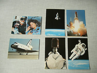 """Space Shuttle postcards - set of six 1980s postcards """"The Shuttle in Space"""""""