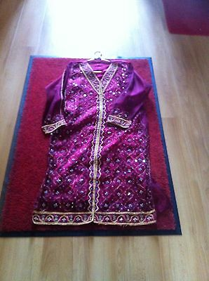 Ladies Maroon Coloured Size 16 Shalwar Kameez Suit Great For EID
