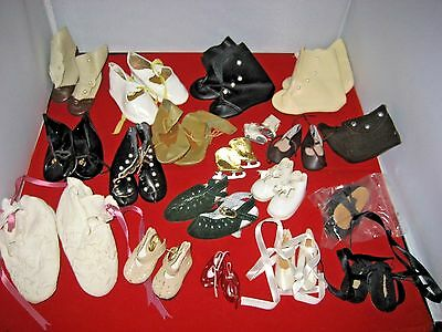 Lot of 19 Pairs Various Vintage / New Super Cute Doll Shoes.