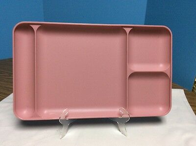 Tupperware Divided Food Tray, Mauve Color Stamped 1535