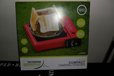 New 4 Slice compact camping toaster for portable camping stove