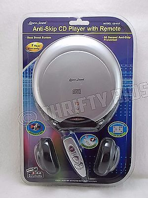 Lenoxx Sound CD-855 Portable Anti-Skip CD Player with Remote & Headphones New