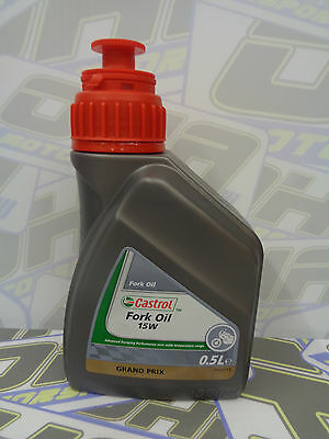 Castrol Grand Prix Motorcycle Bike Suspension Fork Oil 15W 500ml - BRAND NEW