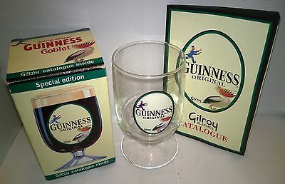 Unused, Boxed Special Edition Guinness Glass Goblet & Gilroy Classics Catalogue