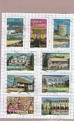 France Regions 2003 9 Stamps Used