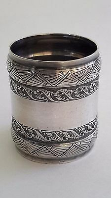 ANTIQUE GORHAM SILVER PLATE Aesthetic Movement NAPKIN RING  1883