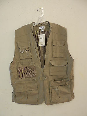 New Discovery Channel Professional Photographer Vest Fishing Hunting Size L