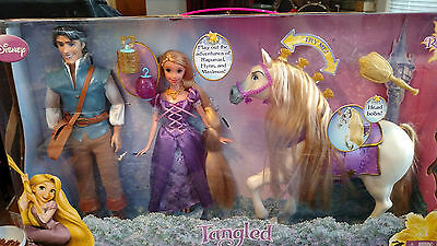 Disney Tangled Happily Ever After Gift Set Dolls Horse Rupunzel Flynn Maximus